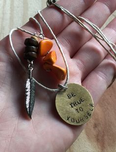A personal favorite from my Etsy shop https://www.etsy.com/listing/260647874/hand-stamped-be-true-to-yourself-layered