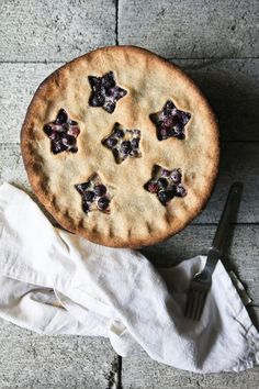Buttermilk blueberry pie.