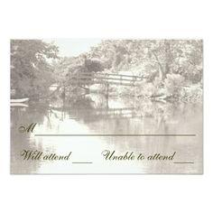 Romantic Footbridge RSVP cards Personalized Announcement