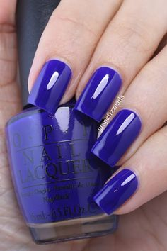 OPI My Car has Navy-gation, New Brights 2015 Collection