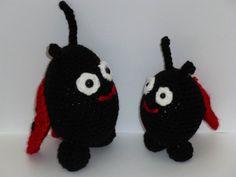Ladybug Set, Amigurumi Ladybug Set, Crochet Ladybug Set, Ladybugs Plush, Ladybug Stuffed Toys, Ladybug Stuffed Animals, Cute Ladybug Toys by AlexsGiftShop on Etsy