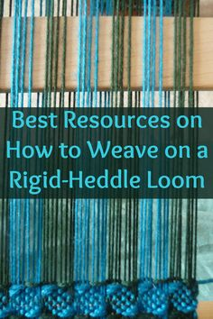 You can now learn how to weave on a rigid-heddle loom with these 4 exclusive products! #rigidheddleloom #rigidheddleweaving #weaving #loomweaving