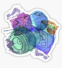 Watercolor Camera Pegatina