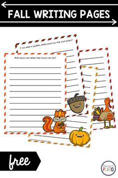 These free fall writing pages are a festive addition to a writing center or Writer's Workshop. The fun story prompts and autumn colors are just the trick to make writing exciting for kids! Perfect for first and second grade students! #writersworkshop #writingcenter #fallactivities Fun Writing Prompts, Story Prompts, Cool Writing, Autumn Activities, Reading Activities, Literacy Activities, Literacy Centers, First Grade, Second Grade