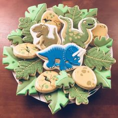 Dinosaur Cakes For Boys, Dinosaur Cookies, Dinosaur Birthday Cakes, The Good Dinosaur, Dinosaur Party, Elmo Party, Elmo Birthday, Mickey Party, Fun Party Themes
