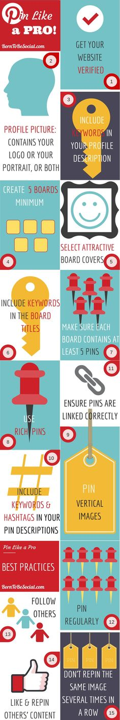 The beauty of Pinterest is that it's so simple, but its simplicity can be deceptive. There are some basic guidelines to follow to optimise results for your business. I have summarised some Pinterest essentials in an infographic for you. | via @borntobesocial
