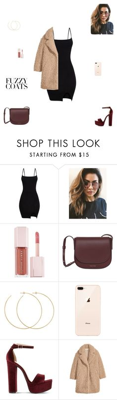 """""""Fuzzy coats"""" by synclairel ❤ liked on Polyvore featuring MINKPINK, Puma, Allison Bryan, Steve Madden, Fall, cute, casual and ootd"""