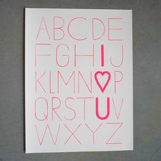 "Image of LOVE LETTERS 18""X24"" PRINT"