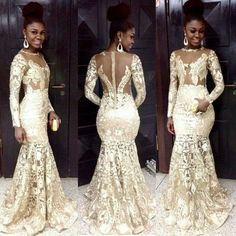 Free shipping, $105.28/Piece:buy wholesale 2016 African Women Bridal Party Dresses Wedding Gowns Sheer Neck Long Sleeves Appliques Illusion Back Zipper See Though Mermaid Custom Made from DHgate.com,get worldwide delivery and buyer protection service.