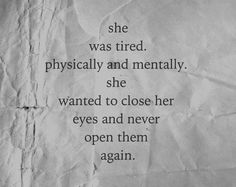 tired, quote, and sad image