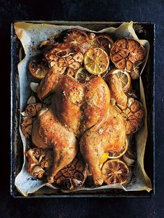 quick butterflied roast chicken from donna hay - Roasted Chicken Duck Recipes, Turkey Recipes, Dinner Recipes, Dinner Ideas, Dessert Recipes, Game Recipes, Butterflied Chicken, Spatchcock Chicken, Roast Chicken Recipes