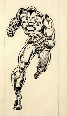 Iron Man corner box art by John Romita Jr. and Bob Layton *