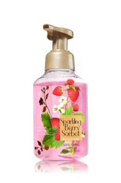 Sparkling Berry Sorbet - Gentle Foaming Hand Soap - Bath & Body Works - Our Gentle Foaming Hand Soap is formulated with antioxidant-rich Vitamins A & E and skin-essential nutrient Vitamin B. The rich, creamy lather gently washes away dirt and germs, while conditioning Aloe leaves hands feeling soft, smooth, and lightly scented.