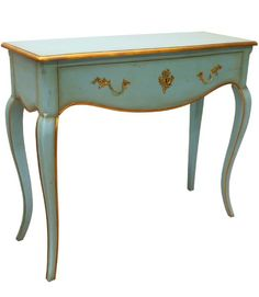 Allissias Attic Design & Vintage French Style — Jacques Turquoise Console