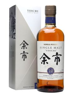 A ten year old, elegantly peaty single malt from Nikka's beautiful Yoichi distillery in Hokkaido, where whisky is made as it used to be in Scotland with small direct-fired stills and matured in the. Nikka Whisky, Malt Whisky, Scotch Whiskey, Bourbon Whiskey, Whiskey Brands, Japanese Whisky, Drink List, Distillery, Whiskey Bottle