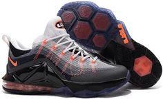 cheap for discount 52149 0186e Nike LeBron 12 Low Air Max 95 Hybrid Grey Orange White Black Kd Shoes,  Converse