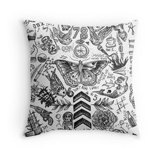 'One Direction tattoos' Throw Pillow by tashalmighty One Direction Bedroom, One Direction Gifts, One Direction Tattoos, One Direction Merch, One Direction Lockscreen, One Direction Outfits, One Direction Pictures, I Love One Direction, One Direction Accessories