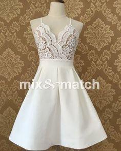 Bonito Vestido Sexy Vestido branco Com Decote Em V Sem Encosto Cruz Tiras de Renda Patchwork vestido de baile Vestido Branco Plissado Mini Vestido DR03378C em Vestidos de Das mulheres Roupas & Acessórios no AliExpress.com | Alibaba Group