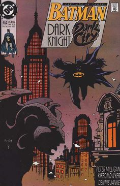 Batman #452 / Dark Knight, Dark City / Mike Mignola Cover Art