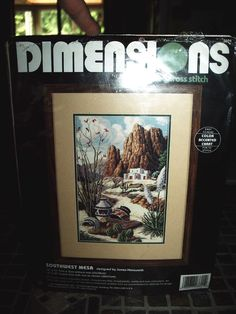 New Dimensions Counted Cross Stitch - Southwest Mesa #Dimensions #Picture