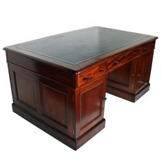 Edwardian Mahogany Partner's Desk