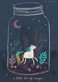 A little bit of magic = a unicorn in a terrarium