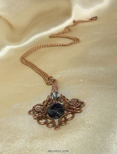 baroque pendant oxidized wire wrapped Wire Work, Wire Wrapped Jewelry, Wire Wrapping, Baroque, Pendant Necklace, Wire Wrap Jewelry, Wire Jewelry, Drop Necklace, Wire Weaving
