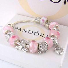 1287b8af9 Pandora Pink Charms Bracelets Pandora Bracelet Charms, Bangle Bracelets,  Pandora Beads, Pandora Jewelry