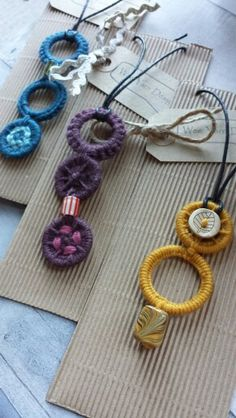 Dorset Button Necklaces