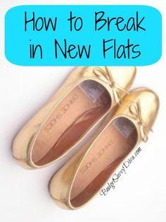 How to Break in New Flats