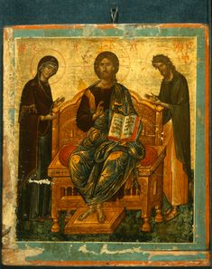 Deesis · The Sinai Icon Collection Byzantine Art, Painting, Image Painting, Art, Best Icons, Byzantine Icons, Christian Art, Art Icon, Sacred Art