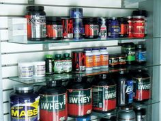 Muscle Building Supplements on store shelves