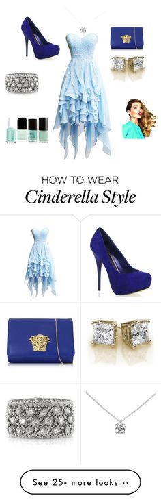 """A modern Cinderella"" by shamrocker01 on Polyvore featuring Versace, Mark Broumand, Tiffany & Co. and modern"