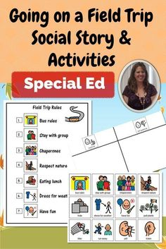 Going on a field trip? Need a way to review the rules with your students before you go? This social story and related activities are meant to help students understand appropriate behavior when going on a field trip.Perfect for students with autism and oth