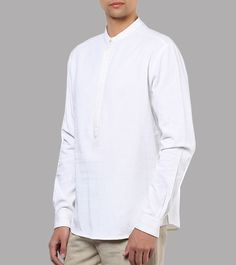 White Crush Cotton Woven Shirt #formalwear #men'swear #cotton #linen