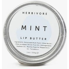 Herbivore Mint Lip Butter ($12) ❤ liked on Polyvore featuring beauty products, skincare, lip care, lip treatments, makeup, beauty, cosmetics, fillers, lip and mint