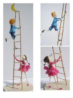 Resultado de imagem para bonecos pasta de papel
