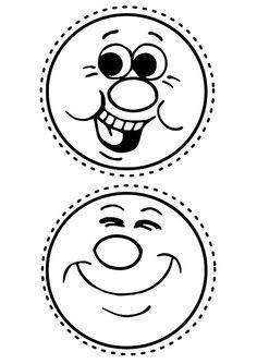 Aula virtual de audición y lenguaje.caras emociones Cartoon Faces, Funny Faces, Cartoon Drawings, Shape Pictures, School Labels, Felt Books, Face Characters, Feelings And Emotions, Preschool Crafts