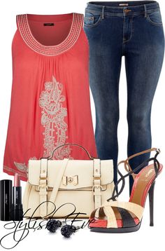 """""""Plus Size !"""" by stylisheve on Polyvore--I like the outfit, but I love the top"""