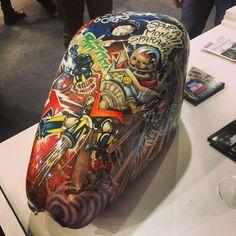More chopper art from our travels Custom Motorcycle Paint Jobs, Custom Paint Jobs, Old School Motorcycles, Custom Motorcycles, Custom Sportster, Custom Bobber, Rat Fink, Pinstriping Designs, Custom Tanks