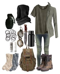 The Scorch Trials Outfit by lili-c on Polyvore featuring polyvore, fashion, style, H&M, Balmain, P-L-D-M by Palladium, Pieces, Korres, Dot & Bo and Stelton