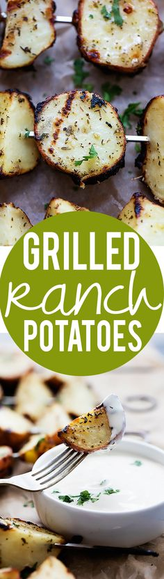 3-Ingredient Grilled Ranch Potatoes | Creme de la Crumb.  Easy and delicious! Great quick side dish!