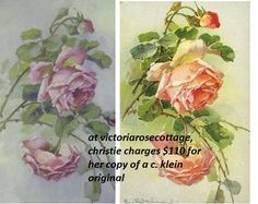 christie's is on the left, catherine klein's is on the right. same roses, same bud, same leaves.