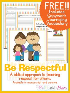 Be Respectful: A biblical approach to teaching respect for others. | The Multi Taskin' Mom