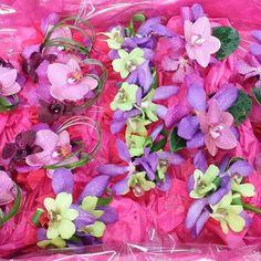 cool vancouver florist Fun colourful corsages utilizing three different orchids #corsage #orhid #phaleonopsis #mokara #dendrobium #GranvilleIslandFlorist #vancityliving #exoticflowers by @granvilleislandflorist  #vancouverflorist #vancouverflorist #vancouverwedding #vancouverweddingdosanddonts