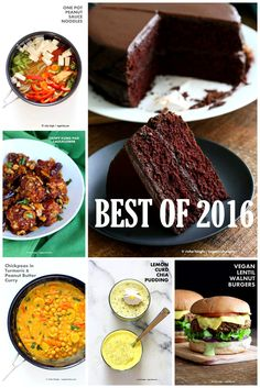 Best Vegan Recipes 2016. Top Recipes from VeganRicha.com. Vegan Gluten-free Healthy Recipes 16 Popular Posts Kung Pao Cauliflower, Lentil Walnut Burger, Deep Dish Pizza, Lemon Curd Chia Pudding