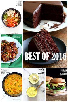 Best Vegan Recipes 2016. Top Recipes from VeganRicha.com. Vegan Gluten-free Healthy Recipes 16 Popular Posts Kung Pao Cauliflower, Lentil Walnut Burger, Deep Dish Pizza, Lemon Curd Chia Pudding