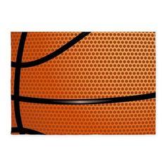 Basketball Pattern 5x7'Area Rug on CafePress.com