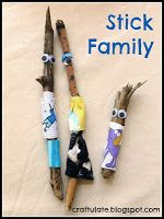 Adorable stick family inspired by Red Ted Art the book. Love the fun play that went with it! Gorgeous photos! Thank you so much for sharing Craftulate!