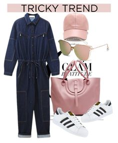 """""""TRICKY TREND: OVERALLS"""" by gigi-lucid ❤ liked on Polyvore featuring adidas"""